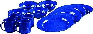 Coleman 12-Piece Enamel Dinnerware Set, Blue