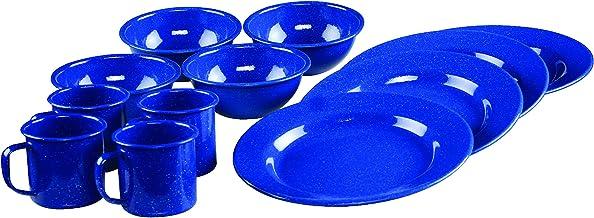 طقم أدوات مائدة 12 قطعة مينا من كولمان، لون أزرق