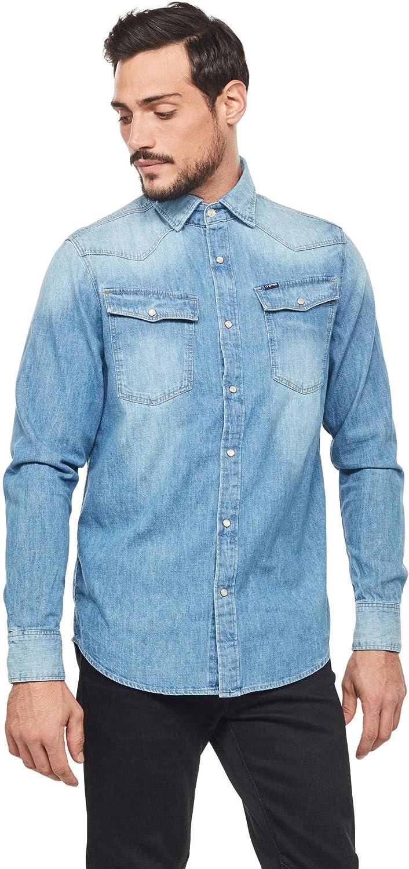 G-STAR RAW 3301 Straight Long Sleeve Camisa Vaquera para Hombre