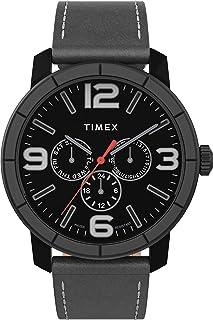 Timex Men's Mod44 Multifunction 44mm Leather Strap Watch TW2U15200