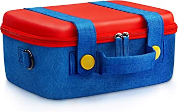 Travel Carrying Case Compatible With Nintendo Switch System,Cute and Deluxe,Protective Hard Shell Carry Bag for Mario Fans...
