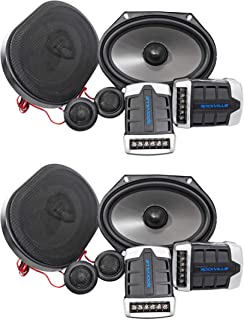 2 Pairs Rockville RV68.2C 6x8/5x7 Component Car Speakers 1800 Watts/340w RMS CEA photo