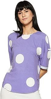 VERO MODA Women's Plain Regular Fit Top (200144303_Ultra Violet_L)