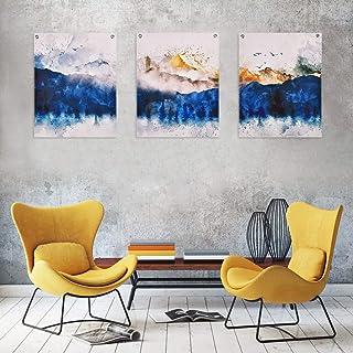 Large Wall art Abstract Watercolor Paintings Prints Set of 3 Lilac Purple Art Prints Minimalist art Brush Strokes Scandinavian art Posters