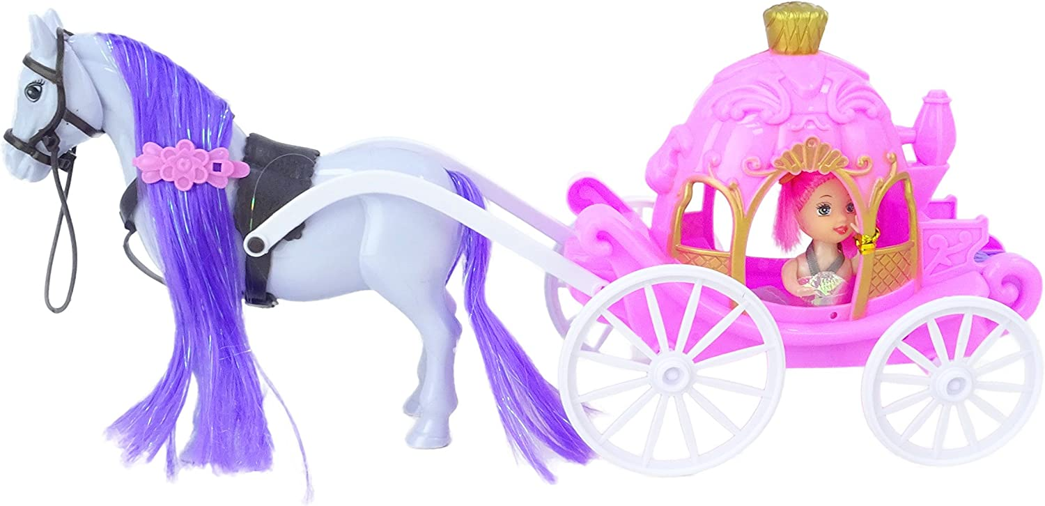 Toyland Fashion Princess Limited time sale Doll with Horse Factory outlet - Carriage Girls Pl and