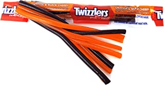 Halloween Candy Twizzlers Pull 'n Peel, Orange & Black Cherry Flavored, Halloween Edition Candy Treats, 3 Pounds