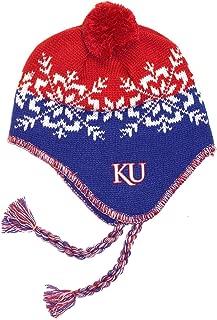 NCAA Officially Licensed Kansas Jayhawks Pom Tassel Beanie Hat Cap Lid