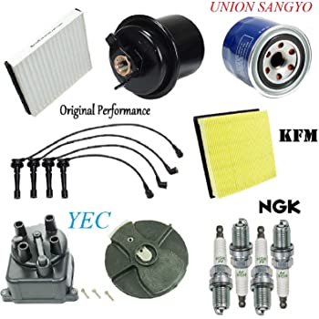 for 97-01 CRV CR-V Ignition Wires Cap /& Rotor Spark Plugs Air Oil Gas Filter