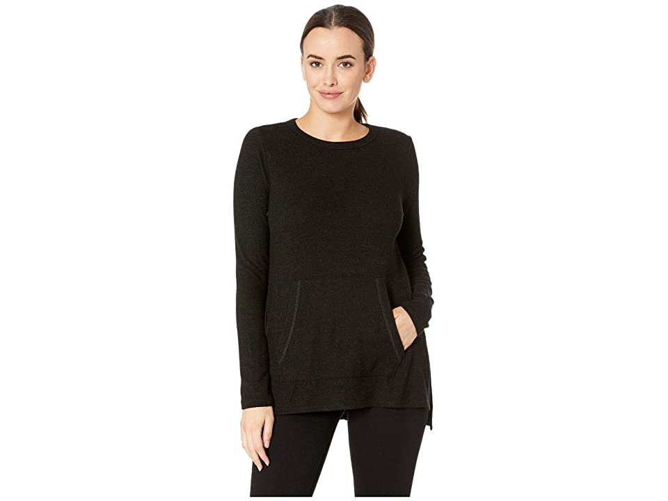 Karen Kane Long Sleeve Pocket Sweater (Black) Women
