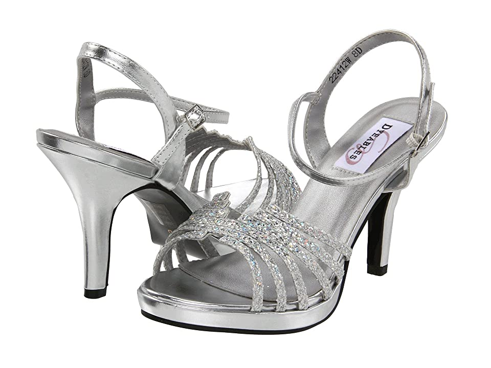 Touch Ups Leah by Dyeables (Silver Iridescent Glitter) High Heels