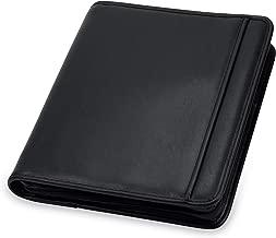 "Samsill Professional Padfolio / Portfolio with Zippered Closure Case, 1 Inch Round Ring Binder, Interior 10.1"" Tablet Sleeve, Black"