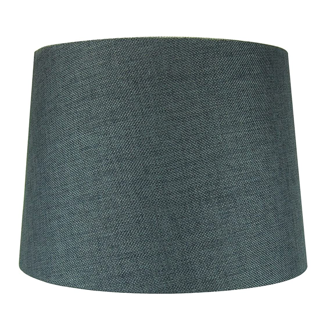 12x14x10 Hardback Drum Lamp Lampshade Granite Grey with Brass Spider fitter By Home Concept - Perfect for table and Desk lamps - Medium, Grey