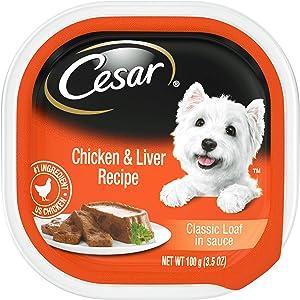 Cesar Cuisine Chicken & Liver Receipe Wet Dog Food, 3.5 Oz