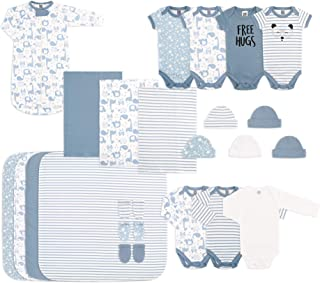 The Peanutshell Newborn Essentials Layette Gift Set for Baby Boys or Girls, 23 Piece