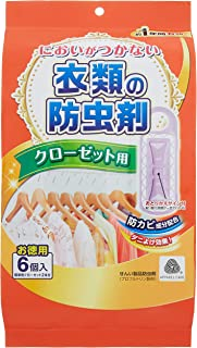 [Amazon限定ブランド] ライオンケミカル においがつかない衣類の防虫剤 クローゼット用 6個入(標準用クローゼット2本分)
