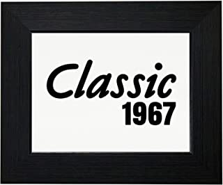 Royal Prints 50th Birthday Gift - Born in 1967 - Vintage Classic Framed Print Poster Wall or Desk Mount Options