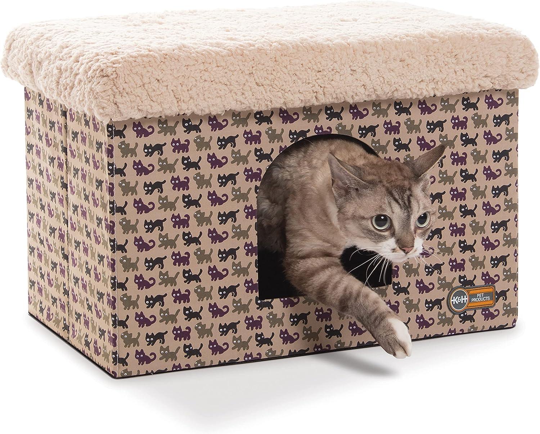 K&H PET PRODUCTS K&H Mascotas   Banco para Gatos   Cama escondite para Gatos