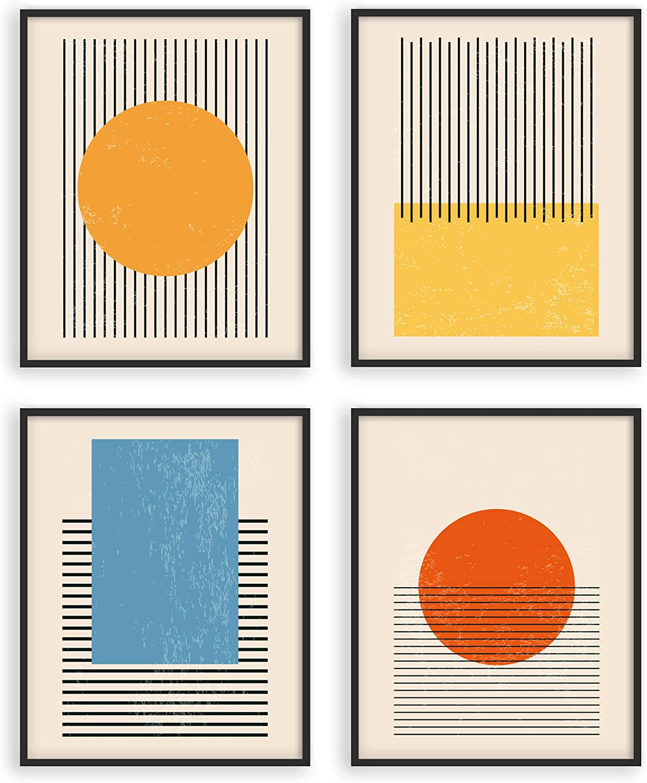 W.O.W.A  Mid Century Modern Abstract Art Prints   Set of 20 Modern Abstract  Wall Art Prints   Midcentury Modern Wall Art   Geometric Decor   Abstract  ...
