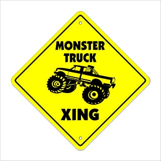 Monster Truck Crossing Sign Zone Xing | Indoor/Outdoor | 12