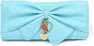 Damara Women Long Faux Leather Bifold Large Bow Design Wallet Handbag