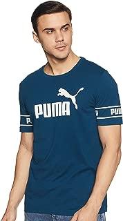PUMA Men's Amplified Big Logo Tee Gibraltar Sea
