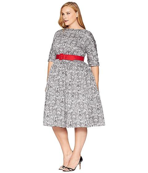 Unique Vintage Plus Size 1940s Style Black & White Lace ...