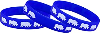 Sorai Rhino Wrist Band, Blue, Pack of 3