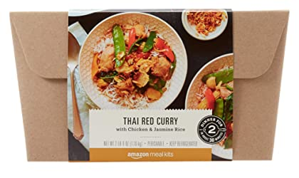 Amazon Meal Kits, Thai Red Curry with Chicken & Jasmine Rice, Serves 2