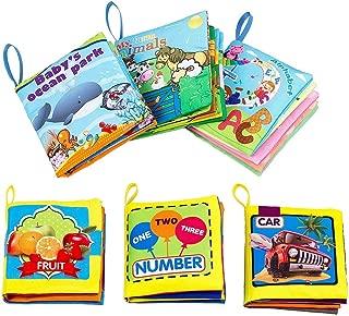 布えほん ベビー用ブック 人気 布材質 幼児教育 破れない 無毒無臭 早期教育 数字 動物 英語 子供用 本 6冊セット