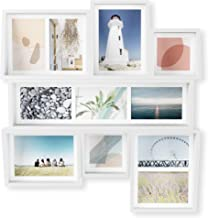 شاشة حائط متعددة Umbra EDGE - إطار ملصقة للصور العائلية وصور وطباعات العطلات، أبيض