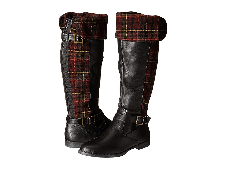 Bella-Vita Romy II (Black/Burgundy Plaid Flannel) Women