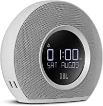 JBL Horizon – Bluetooth Clock Radio with USB Charging and Ambient Light – White