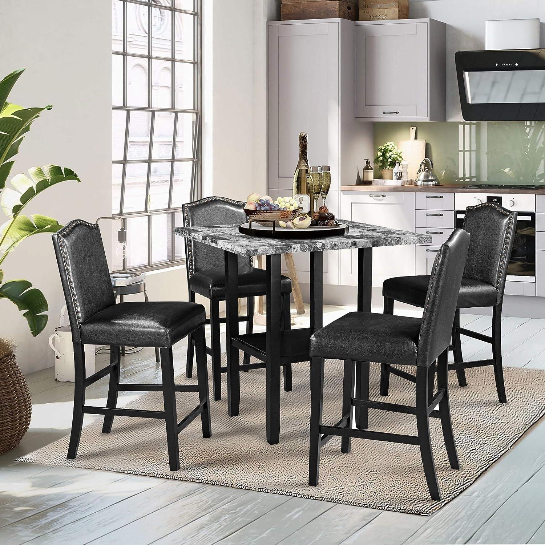 Rhomtree 5-Piece Counter Height Dining Columbus Mall favorite Set Table Kitchen Furnitu