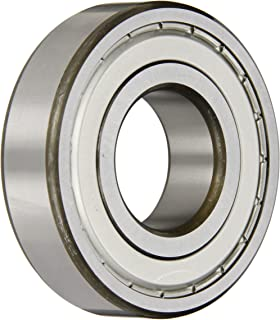 SKF 6307-2Z Radial Bearing, Single Row, Deep Groove Design, ABEC 1 Precision, Double Shielded, Non-Contact, Normal Clearance, Steel Cage, Metric, 35mm Bore, 80mm OD, 21mm Width