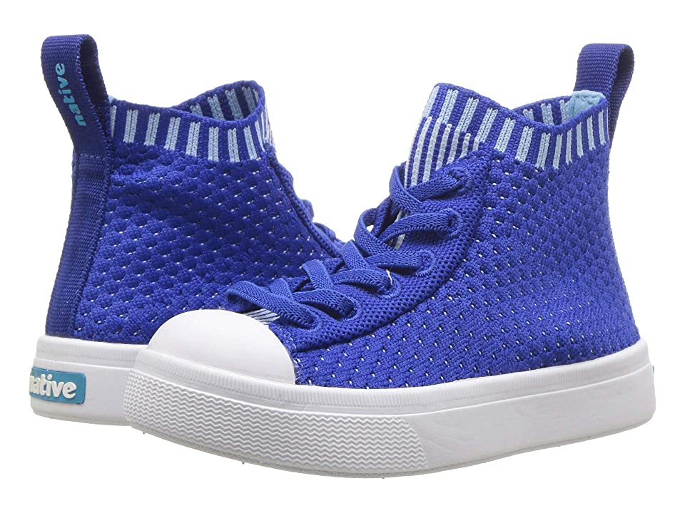 Native Kids Shoes Jefferson 2.0 High Lite (Toddler/Little Kid) (Victoria Blue/Shell White) Kids Shoes