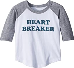 Chaser Kids - Vintage Jersey Heart Breaker Raglan Tee (Toddler/Little Kids)