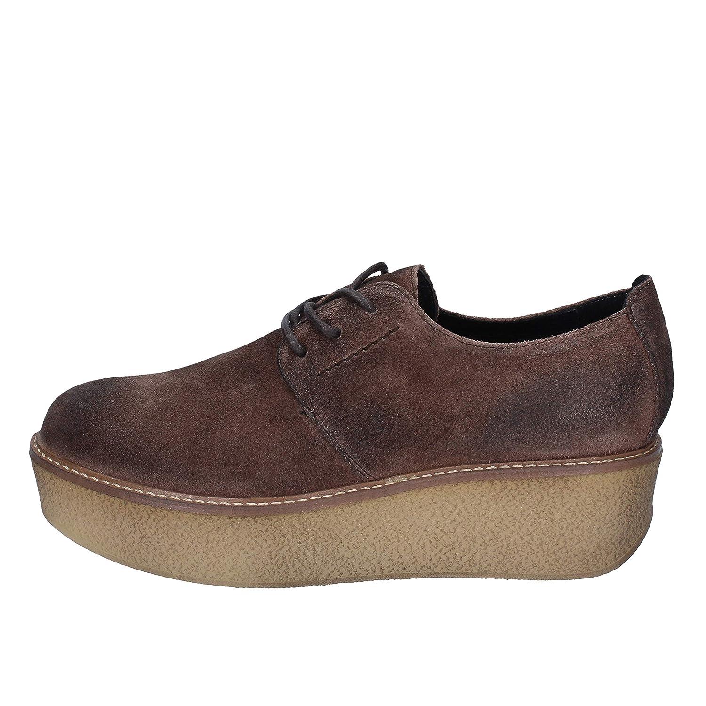 [JANET SPORT] 古典的な女性の靴 レディース スウェード ブラウン