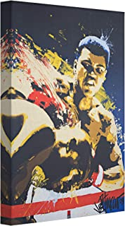 """Officially Licensed Muhammad Ali Pop Art Wrapped Canvas Wall Art (36"""" H x 24"""" L)"""