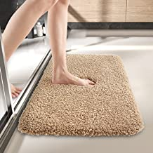 DEXI Bathroom Rug Mat, 24x16, Extra Soft and Absorbent Bath Rugs, Machine Wash Dry, Non-Slip Carpet Mat for Tub, Shower, a...