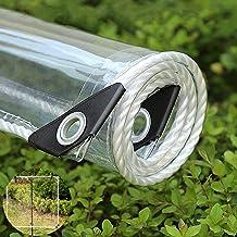 Transparant Waterdicht Zeildoek 0.35 mm Verdikt PVC Zeil met oog,Luifel Tent voor Tuindak Buiten Beschermende regenhoes,Wi...