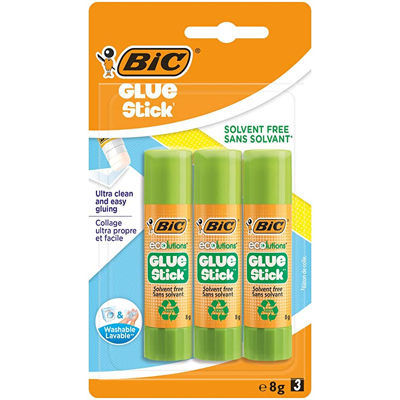 BIC 8 g Ecolutions Glue Stick Pack of 3