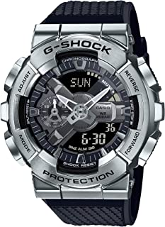 CASIO G-Shock Resin Band Analog Digital Watch for Men - Black and Silver