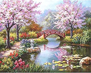 Painting By Numbers For Kids Adults, Canvas DIY Oil Painting Kit With Brushes And Acrylic Pigment For Home Decoration,Cher...