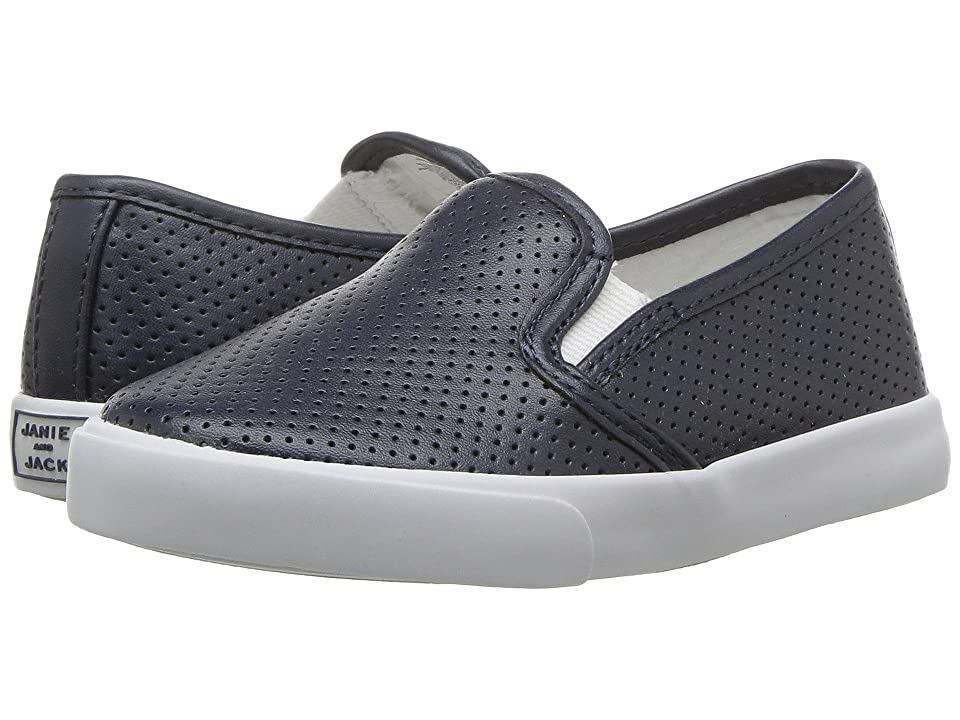 Janie and Jack Perforated Slip-On Shoe (Toddler/Little Kid/Big Kid) (Connor Navy) Boys Shoes