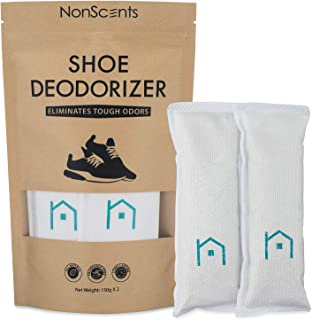 NonScents Shoe Deodorizer – Odor Eliminator, Freshener for Sneakers, Gym Bags, and Lockers