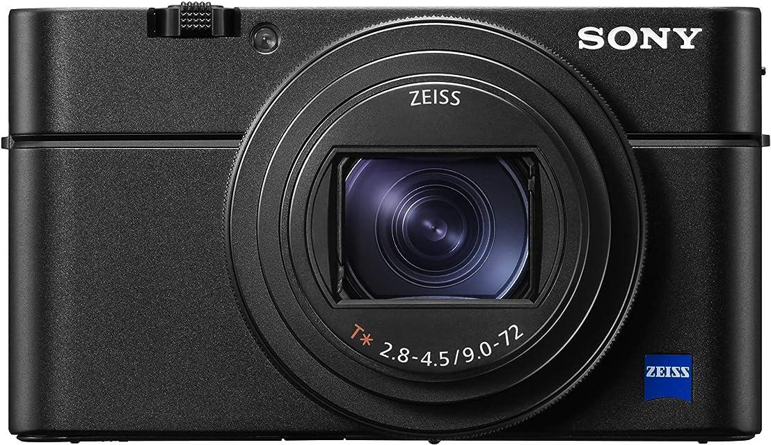 Sony DSC-RX100M7 - Cámara compacta (Sensor CMOS 1.0 de 20.1 MP Zoom 24-200 mm F2.8-4.5 grabación de vídeo 4K AF de 0.02 s Disparo contínuo hasta 24 fps) Negro