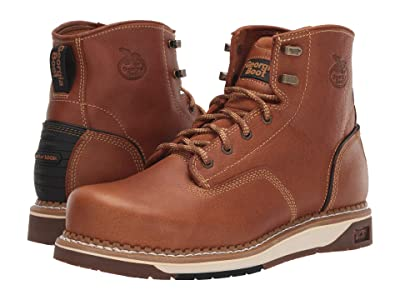 Georgia Boot AMP LT Wedge Steel Toe 6 Work Boot (Light Brown) Men