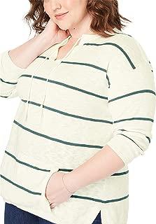 Women's Plus Size Tassel-Tie Pullover Sweater