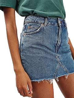 Best denim skirt high waist Reviews