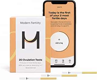 Modern Fertility Ovulation Kit - 20 Ovulation Test Strips in Each Ovulation Predictor Kit. Free iOS App.